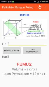 rumus volume kubus