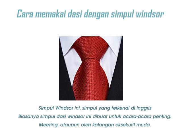 cara memakai dasi yang benar